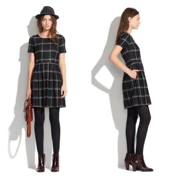 2fcf25cba89 Madewell Dresses   Skirts - Madewell Twirl Dress in Windowpane Plaid